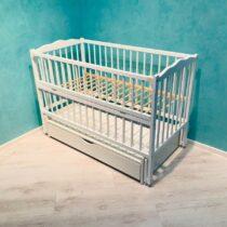 Детская кроватка DUBOC CLASIC с ящиком цвет белый