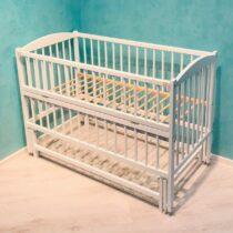 Детская деревянная кроватка DUBOC CLASIC без ящика цвет Белый