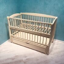 Детская кроватка DUBOC ELIT с ящиком цвет айвори