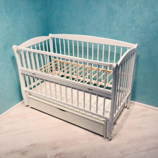 Детская кроватка DUBOC ELIT с ящиком цвет белый