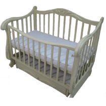 Детская кроватка REGAT на маятнике с ящиком Айвори