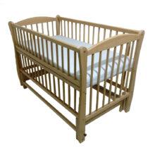 Детская кроватка DUBOC ELIT без ящика цвет натурального дерева