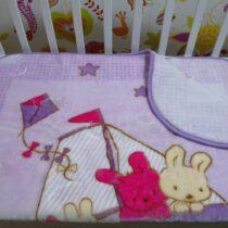 Pătură violet Iepurasi
