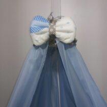 Балдахин шифоновый голубой
