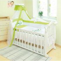 Set de lenjerie Twins Letto alb-verde