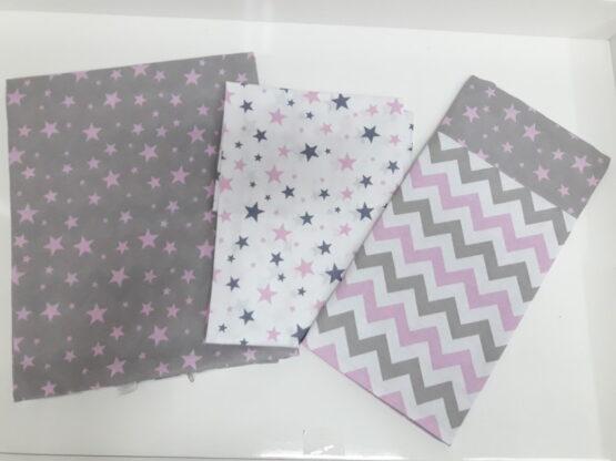 Lenjerie de pat pentru schimb ASIK, zigzag roz
