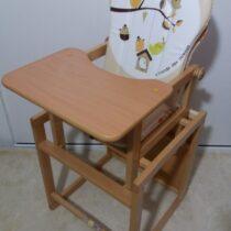 Стульчик деревянный светлый с деревянным столиком — Джунгли