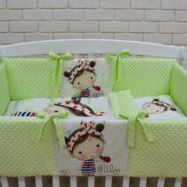 Комплект детской постели из 6-ми элементов «ASIK» Крошечка