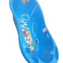 Ванночка Tega Baby большая, с термометром, голубая