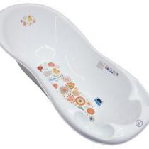 Ванночка Tega Baby большая, с термометром, белая