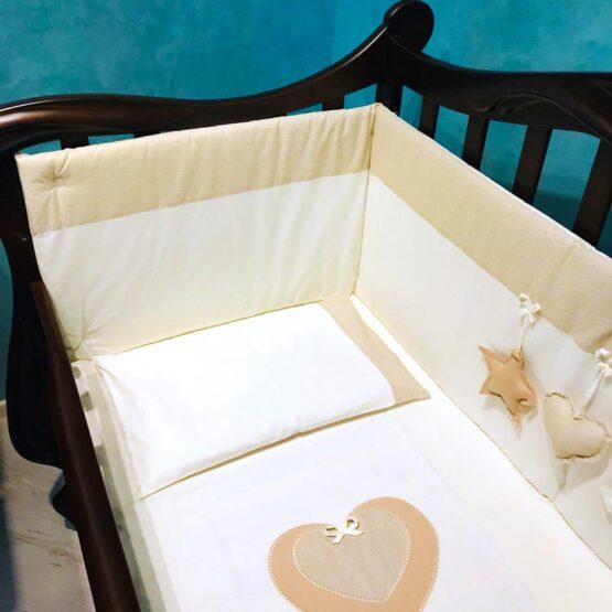 Детская постель 6 элементов Luli бежевая