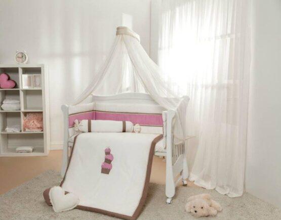 Детская постель 6 элементов  Gigi розовая