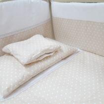 Комплект детской постели «Elegance» 8  элементов Бежевый в горошек