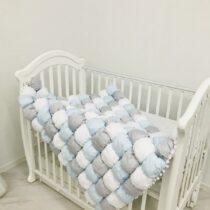 Одеяло BomBon 120*90 голубое из сатина