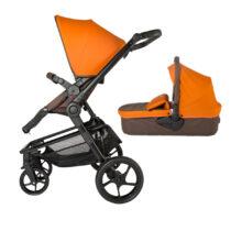 Коляска для детей с модульной системой  COCCOLLE Gigasole 2 in1 оранжевая