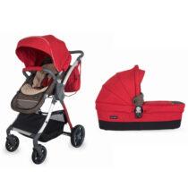 Коляска для детей с модульной системой COCCOLLE Acero 2 in 1 красная
