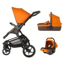 Коляска для детей с модульной системой  COCCOLLE Gigasole 3 in1 оранжевая