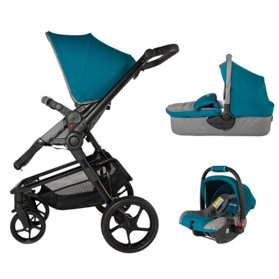 Коляска для детей с модульной системой  COCCOLLE Gigasole 3 in1 голубая