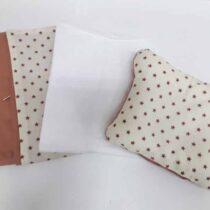 Lenjerie de pat pentru schimb cafeniu, cu stelure