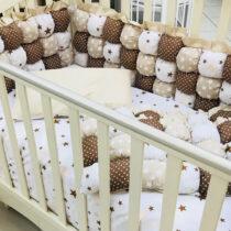Set de lenjerie pentru copii BomBon stele bej