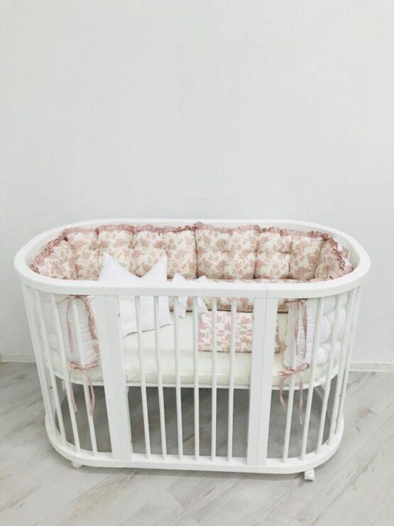 lenjerie ovalbed satin roz 3