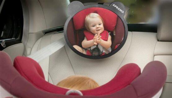 Oglinda auto cu urechiuse Apramo pentru supraveghere1