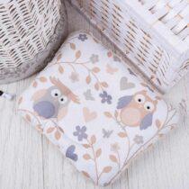 Подушка для новорожденных с плюшем Серые совы