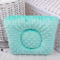 Подушка для новорожденных с плюшем Мятные Ромбы