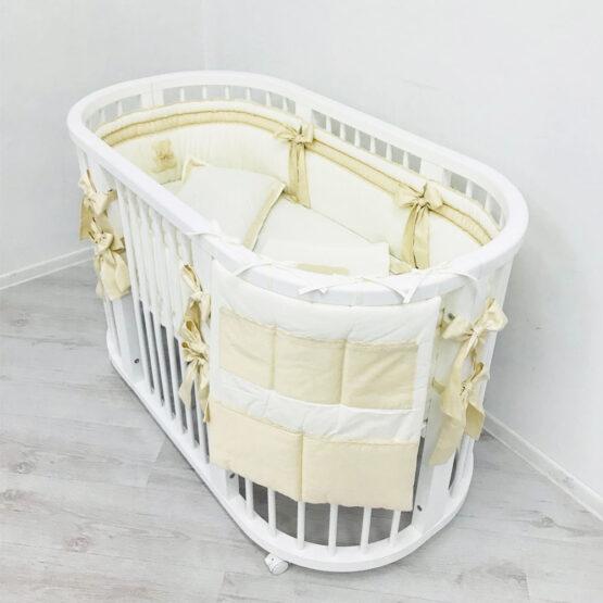 Комплект для овальной кроватки 120*60 Anie Ivory Special Baby