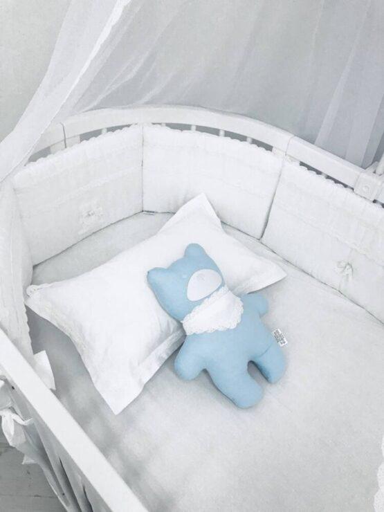 Set de lenjerie pentru Oval 125 Anie Alb Special Baby