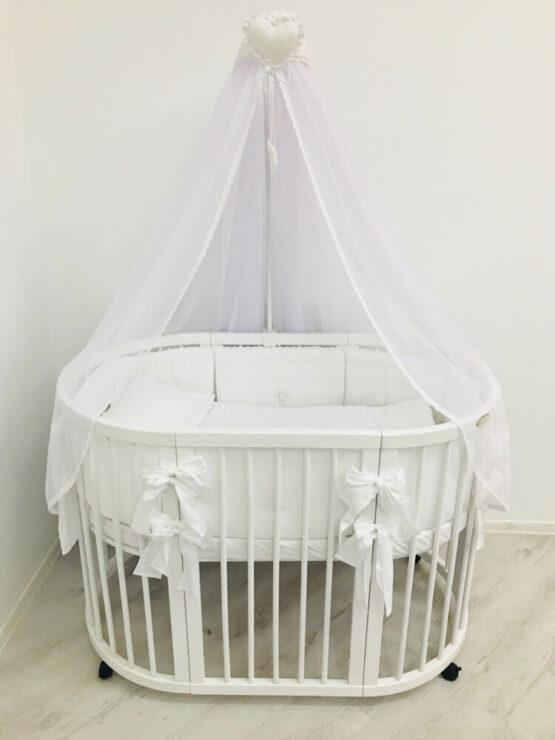 Set Oval 125 Anie Alb Special Baby9