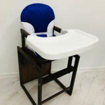 Стульчик деревянный с пластиковым столиком Синий
