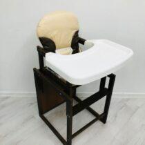 Стульчик деревянный с пластиковым столиком Бежевый