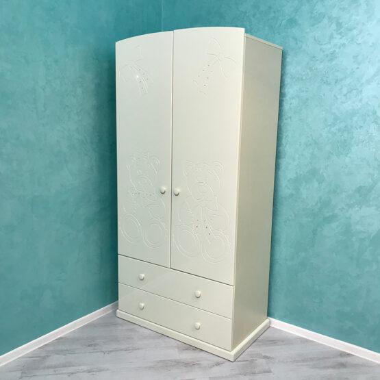 Шкаф для детской комнаты МИШКИ айвори