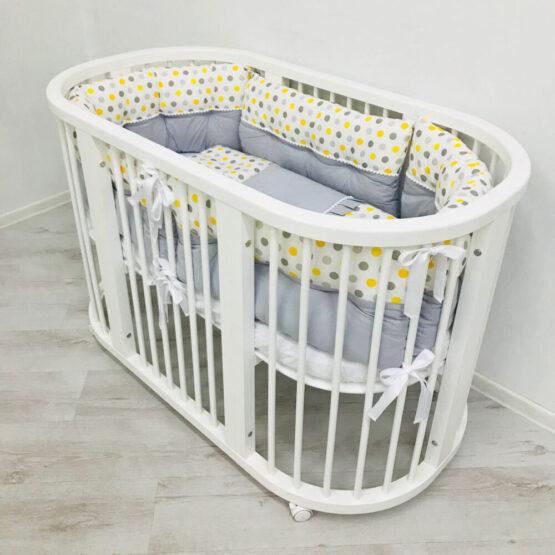 Set de lenjerie pentru pat oval – Dots