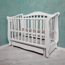 Детская кроватка LOTOS с ящиком  — Белый