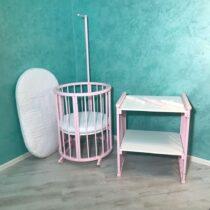 Pătuc Rotund – oval 60*70 Pink