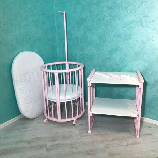 Pătuc Rotund – oval 60*60 Pink