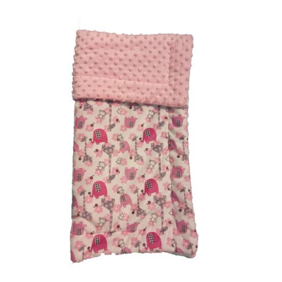 Plapuma de plus roz cu animalute BC