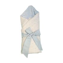 Конверт – Одеяло для новорожденных Белый со Синими  Звёздочками