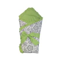 Конверт – Одеяло для новорожденных Зеленый с Сером Узором
