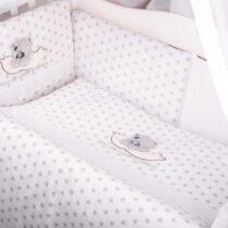 Детский комплект постели 4 части MimiKids Tedi – Серый