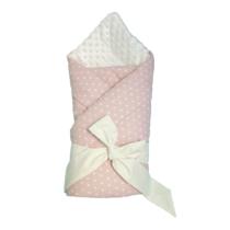 Конверт — Одеяло для новорожденных Розовый с горошком