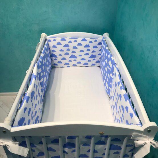 Borduri de protectie BabyCo Nori albastri pe alb