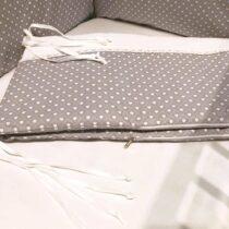 Бортики в кроватку «Elegance» Серый с горошком