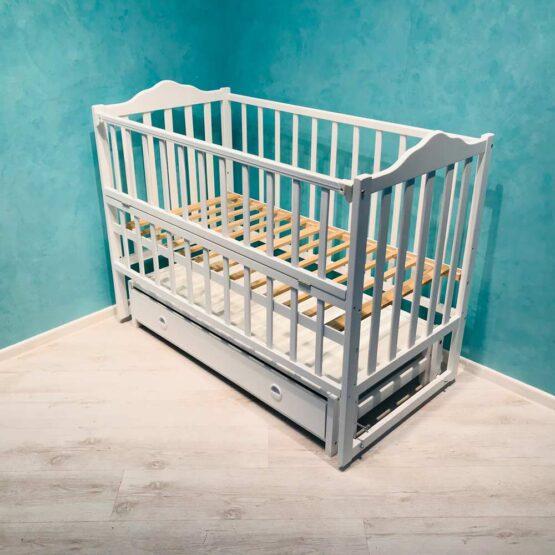 Pătuc Babyterra 3 cu sertar – Alb