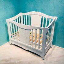 Кроватка с ящиком CAMELOT — Белый