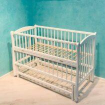 Детская кроватка DUBOC ELIT без ящика — Белый