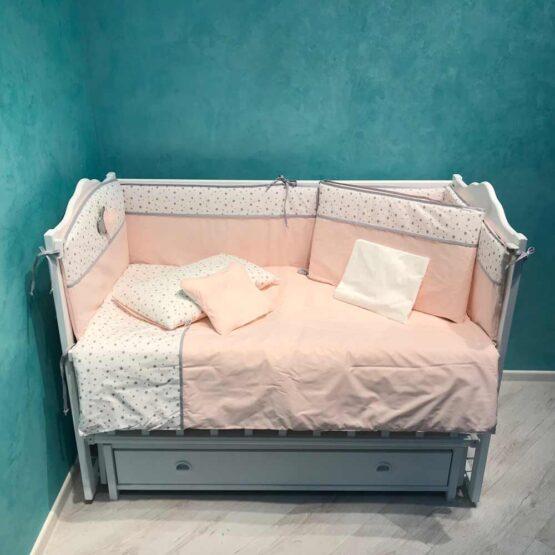 Set de lenjerie 8 elemente Confort roz deschis1