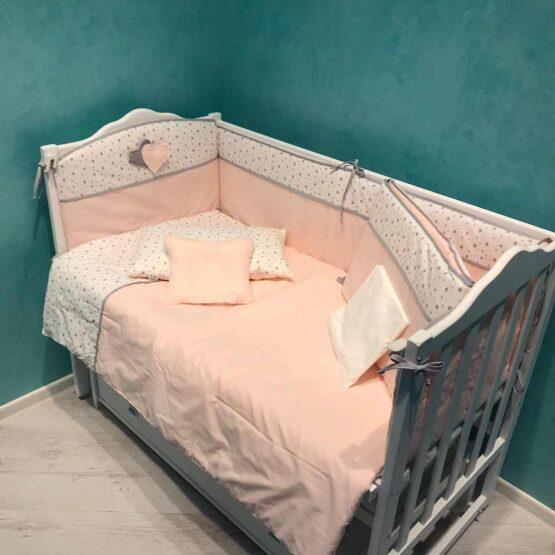 Set de lenjerie 8 elemente Confort roz deschis2